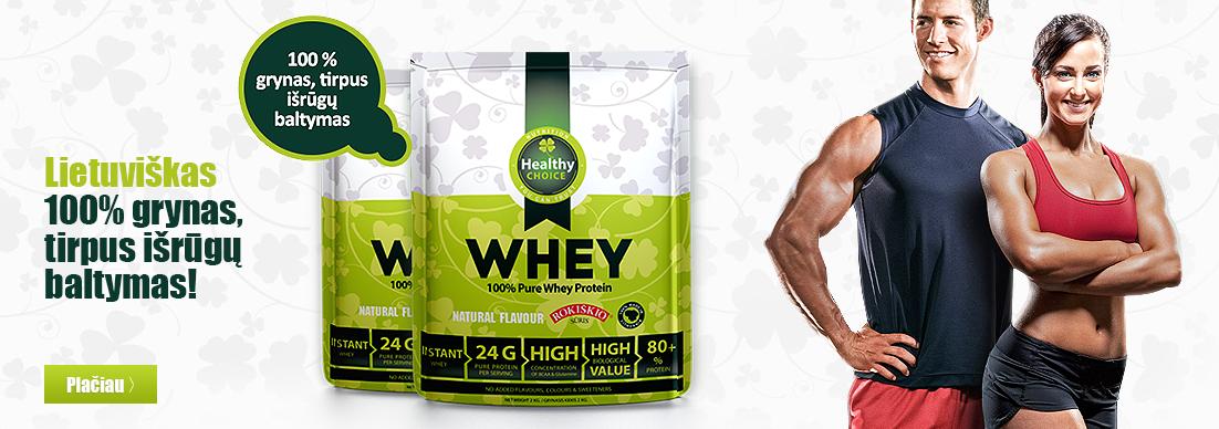 Healthy Choice 100% išrūgų baltymai (+ dovana!))